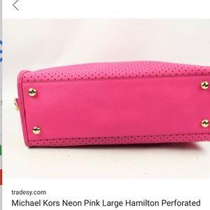 Michael Kors Bags - Michael Kors Rare Perforated Hamilton Tote 5b118add63